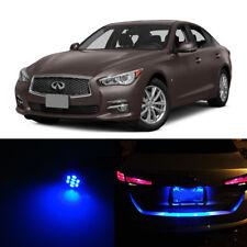 2Pcs Blue LED License Number Plate Lights For Infiniti Q50 Q50S 2014-2015