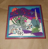 Tu-oti Signed Art Tile Wall Hanging Southwest Decor Ceramic Hummingbird Pottery