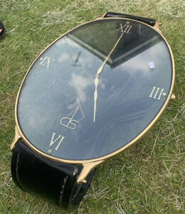 OUTSTANDING MID CENTURY 1950s BRASS & LACQUER WRIST WATCH COFFEE TABLE DE STIJL
