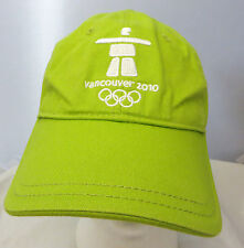 Vancouver Olympics 2010 baseball cap hat adjustable buckle