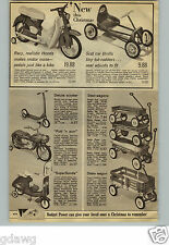 1965 PAPER AD Pedal Motorcycle Putt 'N Purr Honda Wagon Coaster Radio Flyer