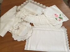8 Assorted Pieces Of Linen, Dressing Table/ Mats
