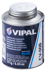 Heavy Duty Vulcanizing Cement/Glue Blue 225ml - For use with tyre repair patches