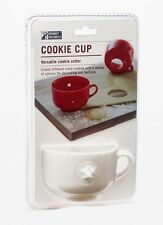 COOKIE CUP White COOKIE CUTTER - 4 Shapes PLASTIC Cookie Press MONKEY BUSINESS