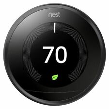 Nest Learning Thermostat 3rd Generation Smart Programmable Black