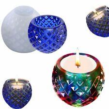 DIY Kristall Silikonform Kreative Kerze Aromatherapie Topfschale Ornament Form