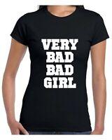 Very Bad Bad Girl T Shirt Ladies Fashion Women Swag Bad Tops Bad Girl Tee Funny