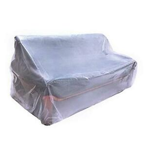 """Plastic Couch Cover,Waterproof Sofa Cover,Waterproof Clear See 92""""Wx42""""D"""