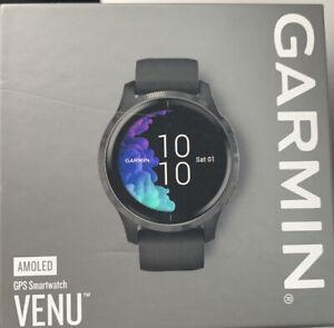Garmin Venu, GPS Smartwatch with Bright Touchscreen Display, Black