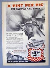 Original 1948 Feed Ad Photo Endorsed Lester Dankenbring Edwardsville Illinois