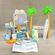 Barbie Doll California Girl Hang Ten T-Shirt Surf Board Shop Playset Instruction