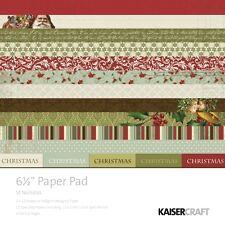 "KAISERCRAFT 6.5"" x 6.5"" ST NICHOLAS Christmas Speciality Paper Craft Pad 40 Sht"