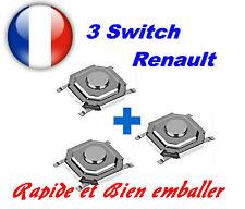 3 x switch bouton poussoir pour clé carte de démarrage Renault Laguna 2 Espace