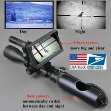 Monitor de batería de infrarrojos digital Visor Visión Nocturna Linterna Caza Alcance