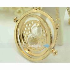 Harry Potter Time Turner Necklace Hermoine Granger Rotating Spins Hourglas GD HK