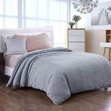 "Royhom Duvet Cover for Weighted Blankets 48x72"" Soft Mink w/ Zipper Dot Gray"