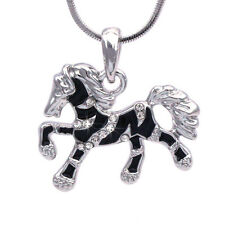 Baby Zebra Horse Black Stripe Mustang Pony  Pendant Necklace Girl Jewelry