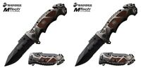 """Lot 2 U.S. Marine Corps Assisted Opening Rescue Knife USMC 9.25"""" M-A1048 NEW"""