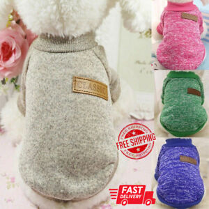 Pet Dog Cat Winter Warm Fleece Vest Clothes Coats Shirt Puppy Sweater Clothes