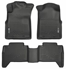 Husky Liners WeatherBeater Floor Mats-3pc-98951- Toyota Tacoma Double Cab -Black