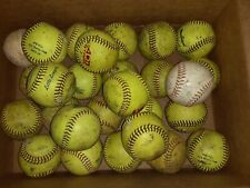 "Lot 29 Softballs - 11"" Rawlings Worth ProNine MacGregor Adidas"