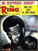 THE RING BOXING MAGAZINE JANUARY 1973 GEORGE FOREMAN