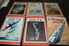 LOT 6 REVUE SCIENCE ET VIE 1941 1943 1944  N° 292 310 317 318 326 327