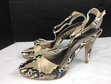 White House-Black Market  Snake print Stiletto Sandals  Heels Ankle Straps 6.5