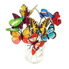 50pcs Garden Yard Planter Butterfly Stakes Dragonfly Decoration Butterfly 7cm