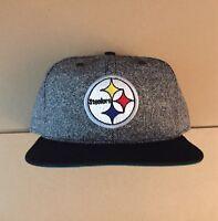 Vtg Pittsburgh Steelers Salt n Pepper Snapback Hat Cap 90s New Era 80s usa made