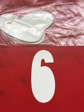 """White Stick On Number Six """"6"""" Lot of 12"""