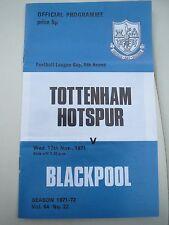 Tottenham Hotspur V   Blackpool L Cup    1971/2