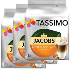 3 x Tassimo Jacobs Latte Macchiato Caramel   24 T Discs