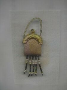 Dollhouse Miniatures Leather Purse Kit (Tan) With Strap Beaded Fringe