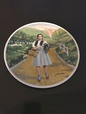 """Wizard Of Oz Plate """"Over the Rainbow� Collector Knowles by James Auckland 1977"""