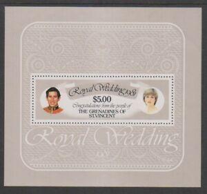 St Vincent Grenadines - 1981, Royal Wedding sheet - MNH - SG MS201