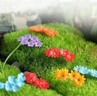 10Pcs Miniature Flower Craft Fairy Moss Garden Ornament Bonsai Dollhouse Decor