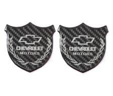 3D CHEVROLET Carbon Fiber Car Front Body Trunk Rear Side Badge Emblem Sticker X2