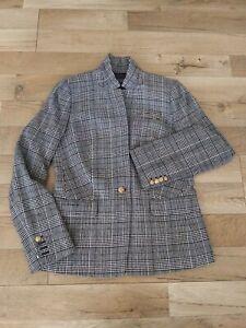 J. CREW Women's Size 10 Regent Glen Plaid Wool Blend Blazer Boyfriend Jacket