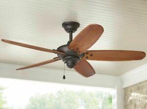 NEW HOME DECORATORS Altura 48 in. Indoor/Outdoor Oil-Rubbed Bronze Ceiling Fan