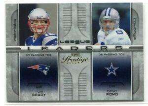 2008 Playoff Prestige League Leader Romo Manning Roethlisberger Tom Brady 33/100