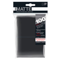 Ultra PRO Pro-Matte Deck Protector Sleeves Standard Card BLACK 100ct 66 x 91mm