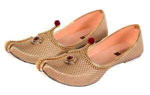 Golden Wedding Sherwani Jutti for Men