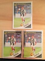 (3 LOT) 2018-19 PANINI DONRUSS SOCCER PRESS PROOF SILVER PAULO DYBALA