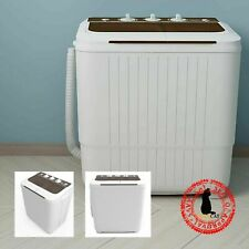 Portable Washing Machine 17lbs Compact Twin Tub Spiner Dryer Laundry Washer