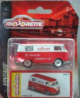 Majorette Volkswagen T1 VW White red diecast model car Vintage edition Toy