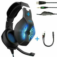 OKOMATCH Gaming Headset-3.5MM Jack & USB Wired Over Ear Headphone with Mic