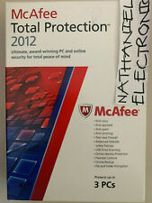 McAfee Internet Security/TOTAL PROTECTION 2012 - 3 Users [Old Version] NIB CHEAP