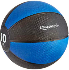 AmazonBasics Weighted 10 lb Medicine Ball for Full Body Workout Training