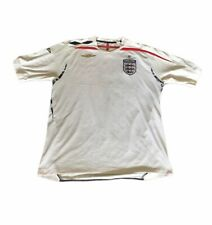 England Football Shirt by Umbro Official 2007 2009 White Red Size XL